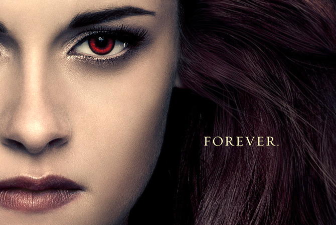 "Kristen Stewart, ""Breaking Dawn Part 2"" movie poster. — File Photo"