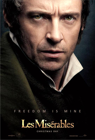 "Hugh Jackman, ""Les Miserables"" movie poster. — File Photo"