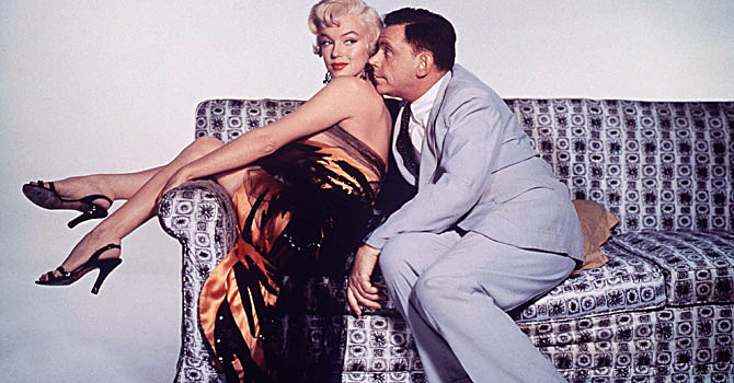 "Actors Marilyn Monroe and Tom Ewell are shown in a scene from their 1955 film ""The Seven Year Itch"" which is featured in a new DVD set, the Forever Marilyn Collection, featuring her classic films. — Reuters Photo"