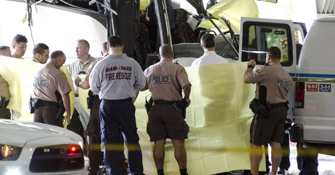 Two dead after bus crash at US airport, three critical - World
