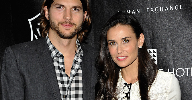 FILE - In this June 9, 2011 file photo, actors Ashton Kutcher and Demi Moore attend the first annual Stephan Weiss Apple Awards at the Urban Zen Center in New York.  Court records show Kutcher filed for divorce from Moore on Friday, Dec. 21, 2012, citing irreconcilable differences. (AP Photo/Evan Agostini, file)FILE - In this June 9, 2011 file photo, actors Ashton Kutcher and Demi Moore attend the first annual Stephan Weiss Apple Awards at the Urban Zen Center in New York.  Court records show Kutcher filed for divorce from Moore on Friday, Dec. 21, 2012, citing irreconcilable differences. (AP Photo/Evan Agostini, file)