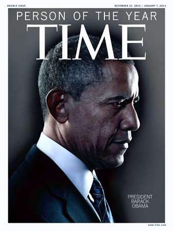 "This image courtesy of TIME magazine shows the Person of the Year cover for December 31, 2012/January 7, 2013. US President Barack Obama was named ""Person of the Year 2012 by Time Magazine on December 19, 2012. – Photo by AFP"