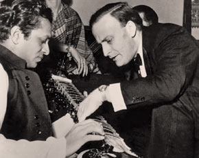 "Yehudi Menuhin said of Ravi Shankar, ""To me his genius and humanity can only be compared to that of Mozart's!"""
