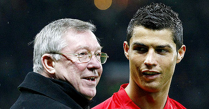 ronaldo, sir alex ferguson, ronaldo alex ferguson, manchester united real madrid, champions league
