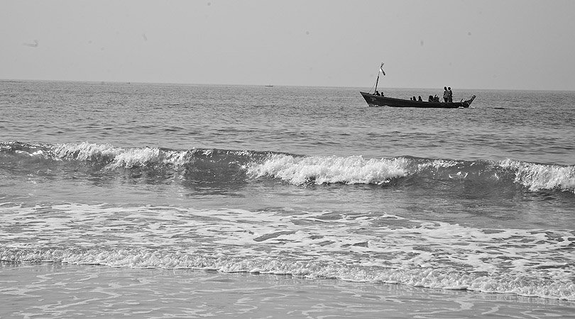 A fishing boat from the village.
