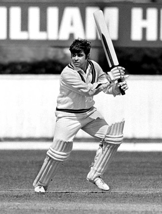 Aftab Gul playing against England in 1971.