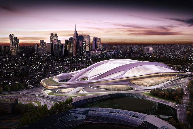 The Olympic stadium, one of the main venues proposed for the 2020 Summer Olympic games, is seen in this computer-generated file handout image provided by the Tokyo 2020 Bid Committee, and released January 8, 2013. Tokyo, which hosted Asia's first Olympics in 1964, tiptoed into the bidding race for 2020 after losing out to Rio de Janeiro for 2016.    ? Reuters Photo