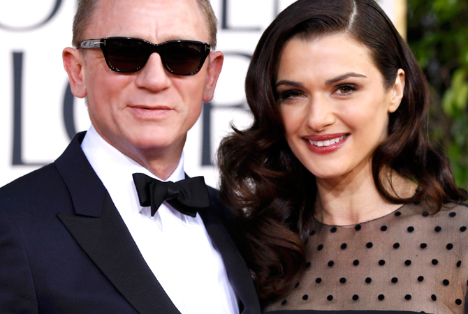 Actor Daniel Craig and his wife, actress Rachel Weisz, arrive at the 70th annual Golden Globe Awards in Beverly Hills. — Reuters Photo