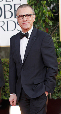 "Actor Christoph Waltz, from the film ""Django Unchained,"" arrives at the 70th annual Golden Globe Awards . — Reuters Photo"