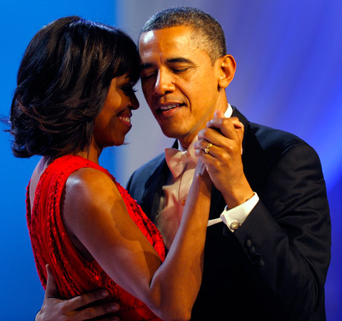 President Barack Obama enjoying the dance with first lady Michelle Obama. ?Photo by AP