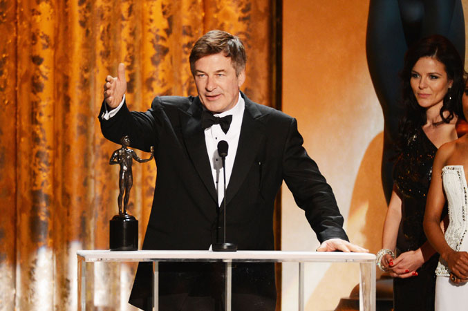 Actor Alec Baldwin accepts the award for ?Outstanding Performance by a Male Actor in a Comedy Series? for '30 Rock'. ?Photo by Reuters