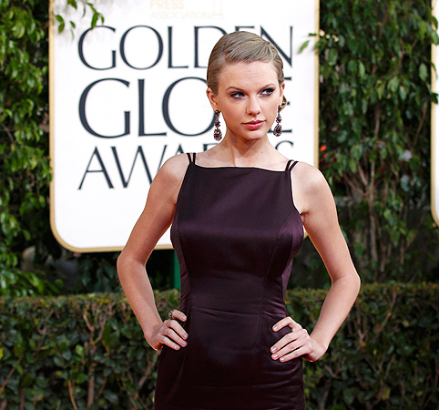 Singer Taylor Swift arrives at the 70th annual Golden Globe Awards in Beverly Hills. — Reuters Photo
