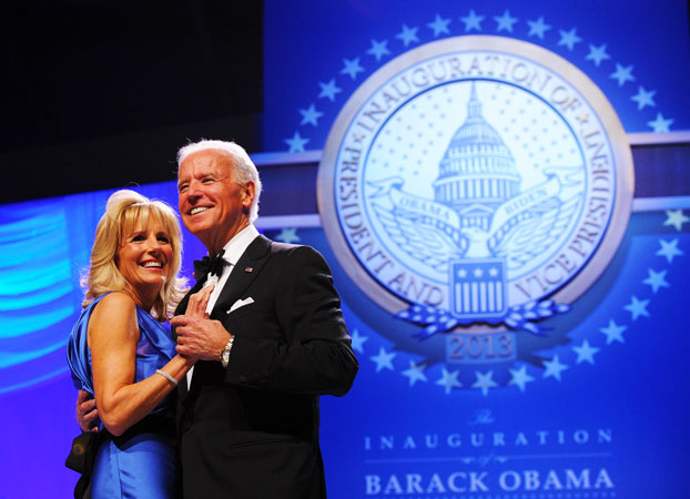 US Vice President Joe Biden and Second Lady Dr Jill Biden attend the Inaugural Ball. ?Photo by AFP