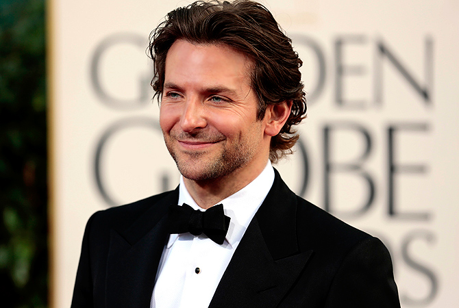 "Actor Bradley Cooper of the film ""Silver Linings Playbook"" at the 70th annual Golden Globe Awards. — Reuters Photo"