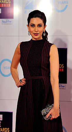 Indian Bollywood actress Karishma Kapoor attends the Zee Cine Awards 2013 ceremony in Mumbai on January 6, 2013. ? AFP Photo