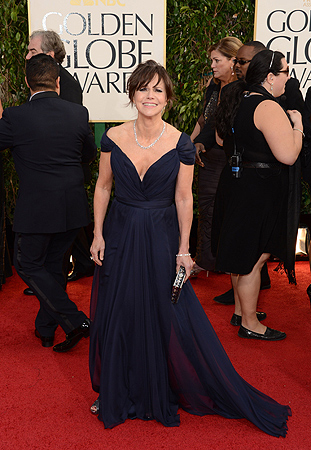 Actress Sally Field arrives at the 70th Annual Golden Globe Awards held at The Beverly Hilton Hotel. — AFP Photo
