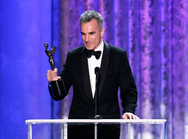 Daniel Day-Lewis accepts the award for ?Outstanding Male Actor in a Leading Role? for ?Lincoln?. ?Photo by Reuters