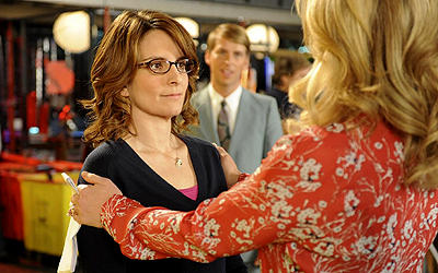 "This image released by NBC shows Tina Fey as Liz Lemon, left, and Jane Krakowski as Jenna Maroney in a scene from the series finale of ""30 Rock,"" airing Thursday, Jan. 31, 2013 on NBC. — AP Photo"