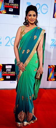 Indian Bollywood actress Sonali Bendre attends the Zee Cine Awards 2013 ceremony in Mumbai on January 6, 2013. ? AFP Photo