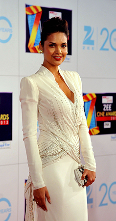 Indian Bollywood actress Esha Gupta attends the Zee Cine Awards 2013 ceremony in Mumbai on January 6, 2013. ? AFP Photo