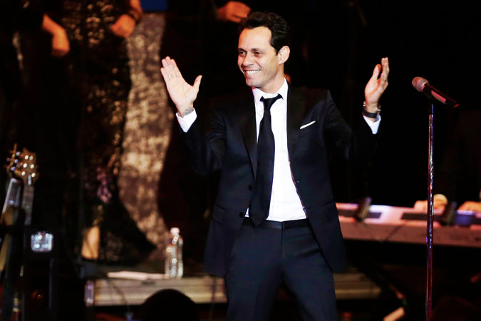 Marc Anthony performs at the Commander-in-Chief's Inaugural Ball. ?Photo by AP