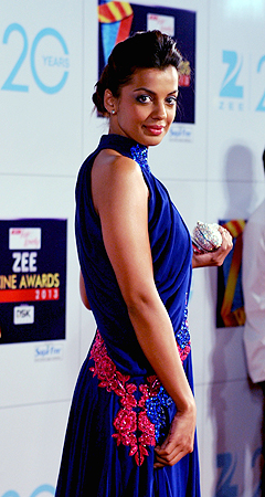 Indian Bollywood actress Mugdha Godse attends the Zee Cine Awards 2013 ceremony in Mumbai on January 6, 2013. ? AFP Photo