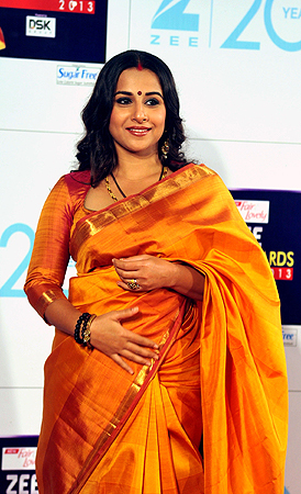 Indian Bollywood actress Vidya Balan attends the Zee Cine Awards 2013 ceremony in Mumbai on January 6, 2013. ? AFP Photo