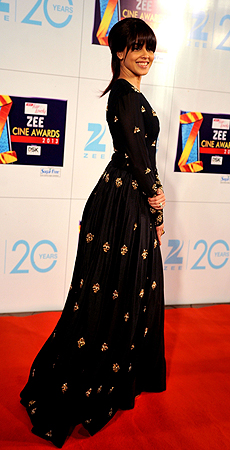 Indian Bollywood actress Genelia D'Souza attends the Zee Cine Awards 2013 ceremony in Mumbai on January 6, 2013. ? AFP Photo