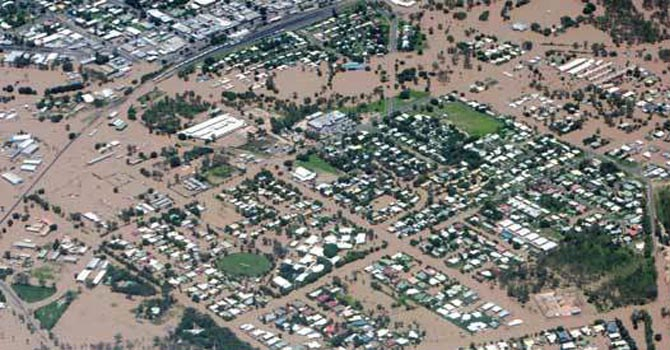This file photo shows an area flooded in Australia in the previous years. - File Photo