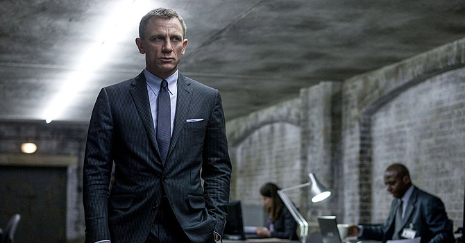 "This film image released by Sony Pictures shows Daniel Craig in a scene from the film ""Skyfall."" Telecast producers of the 85th Academy Awards say the show will feature a celebration of the 50th anniversary of James Bond. Producers Craig Zadan and Neil Meron announced Friday that the show will pay tribute to the 50th anniversary of the James Bond film franchise, which they describe as ""the longest-running motion picture franchise in history and a beloved global phenomenon."" The Oscars will be presented Feb. 24 at the Dolby Theatre in Los Angeles. (AP Photo"