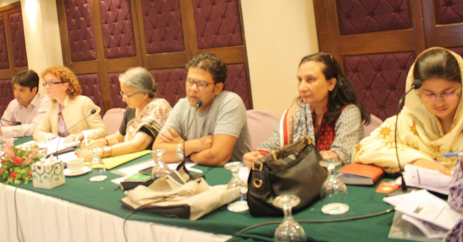 During a conference organised by Civil Society Advisory Group to UN Women Affairs, Lahore Nov 2012.