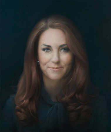 """HRH The Duchess of Cambridge"" by Glasgow-born artist Paul Emsley, is seen in the National Portrait Gallery in London January 11, 2013. The first official portrait of Britain's Duchess of Cambridge, popularly known by her former name Kate Middleton, was unveiled in London on Friday, and opinion was sharply divided over an image many deemed unflattering.  REUTERS/National Portrait Gallery, London/handout"