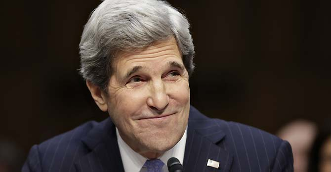 The new US Secretary of State, Senator John Kerry. — Photo by AP