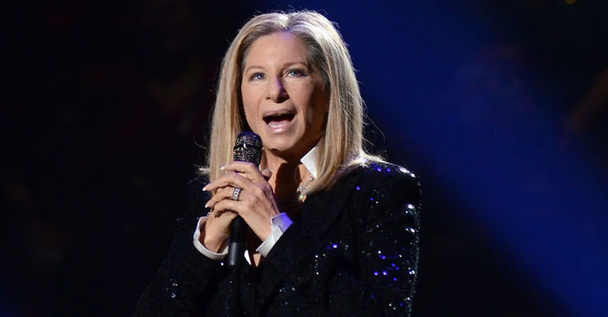 Barbra Streisand performing at the Barclays Center in the Brooklyn borough of New York in 2012. —Photo (File) AP