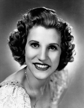 This 1942 file photo shows singer Patty Andrews, the last survivor of the three singing Andrews sisters, who has died in Los Angeles at age 94. Andrews died Wednesday, Jan. 30, 2013, at her home in suburban Northridge of natural causes, said family spokesman Alan Eichler. — AP Photo