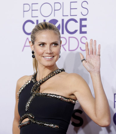 Model and television personality Heidi Klum arrives at the 2013 People's Choice Awards in Los Angeles.?Photo by Reuters