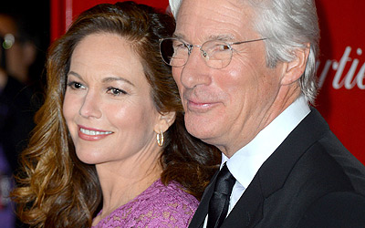 Actors Diane Lane and Richard Gere arrive at the 24th annual Palm Springs International Film Festival Awards Gala at the Palm Springs Convention Center on January 5, 2013 in Palm Springs, California.   Frazer Harrison/Getty Images/AFP== FOR NEWSPAPERS, INTERNET, TELCOS & TELEVISION USE ONLY ==