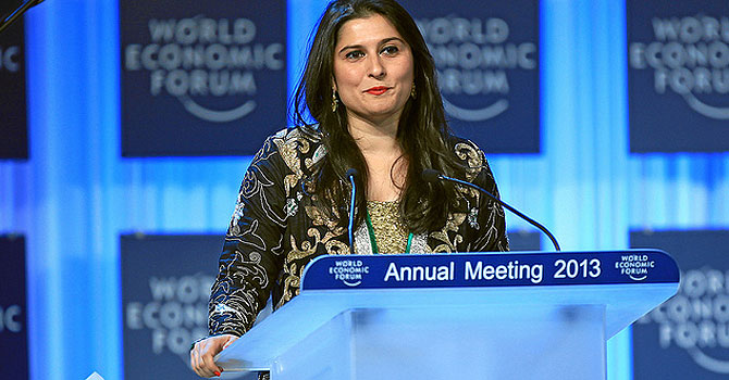 sharmeen obaid-chinoy, Crystal Award, Hilde Schwab, World Economic Forum, World Economic Forum Congress Centre,