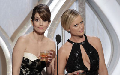 Tina Fey and Amy Poehler at the Golden Globes. —Photo (File) Reuters