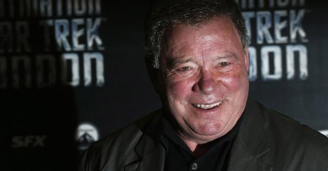 William Shatner who plays Captain James T. Kirk in the original version of Star Trek arrives at the Destination Star Trek London event October 19, 2012. — Reuters Photo