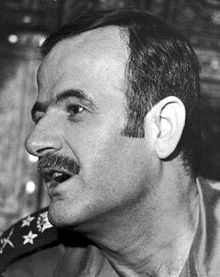 Hafizul Asad talks to foreign media in Damascus after becoming Syria's new head of state and leader of the country's Ba'ath Socialist Party in 1970.