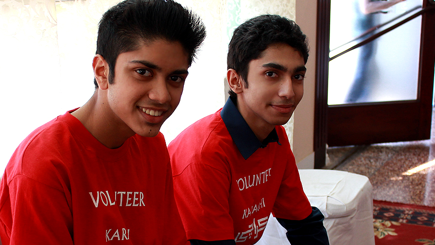 Volunteers from Westminister Tayab, Zahid. -Photo by Shameen Khan/Dawn.com