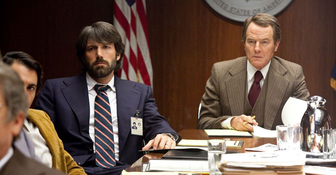 "Ben Aflleck (left) and Brian Cranston (right) in a scene from  ""Argo"". — Courtesy Photo"