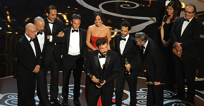 Argo director Ben Affleck accepts the Oscar for Best Movie onstage at the 85th Annual Academy Awards on February 24, 2013 in Hollywood, California. — AFP Photo