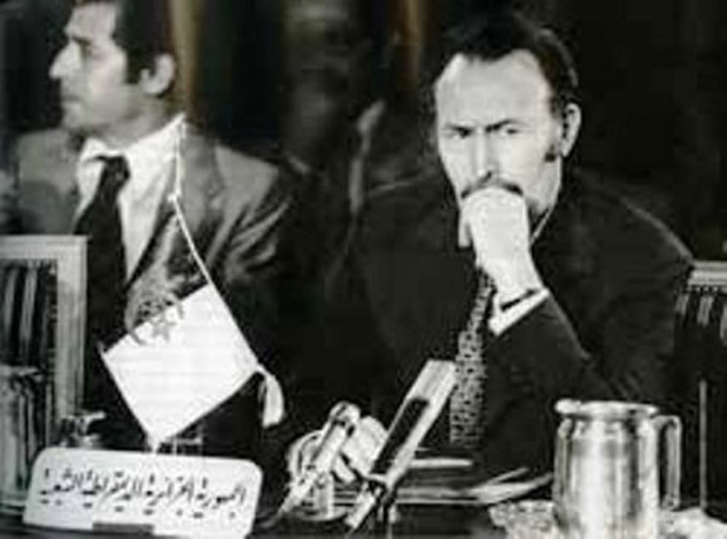 Houari Boumedienne (right) in 1972. He ruled Algeria and headed the FLN from 1965 till 1978, putting Algeria 'on the socialist path.'