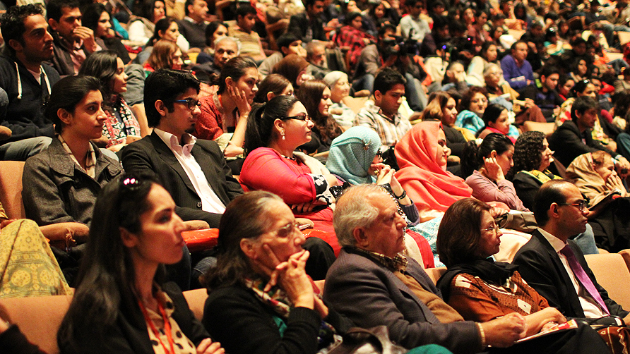 Another day of packed sessions at the Lahore Literary Festival. -Photo by Tabinda Siddiqi/Dawn.com