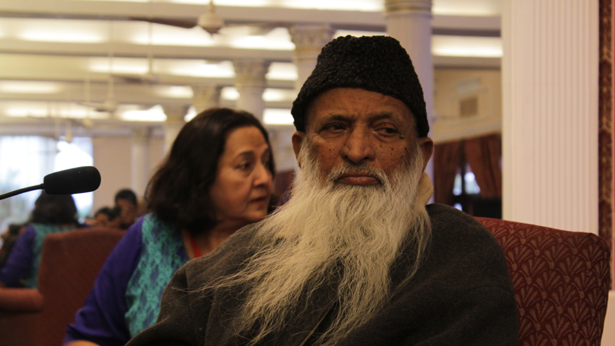 "Edhi waits before the book launch of ""Half of Two Paisas"". -Photo by Alisia Pek Xue Ning"