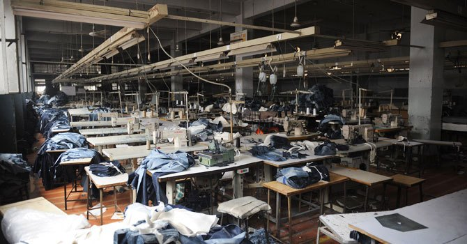 A garments factory in Karachi. -AFP (file photo)