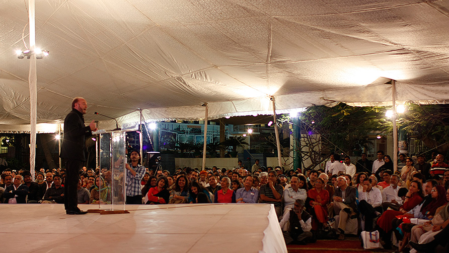 George Galloway's Keynote Speech at the Karachi Literature Festival. - Photo by Eefa Khalid