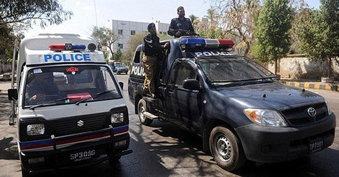 Karachi police patrol. -File Photo